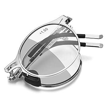 FONEX Photochromic Anti Blue Folding Reading Glasses LH014  Grey 2.0