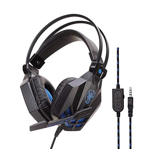 MZZYP Gaming-Headset für PS4, über Ohr-Gaming-Kopfhörer mit Noise-Cancel-Mikrofon, 3D-Surround-Sound, für Xbox Playstation 4 Laptop-Smartphone, rot (Color : Black)