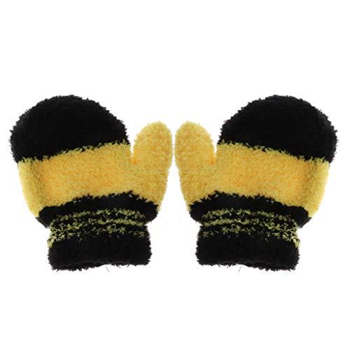 Lyguy Baby Handschoenen, Leuke Baby Kid Jongens Meisjes Warm Winter Handschoenen Peuter Gebreide Regenboog Wanten
