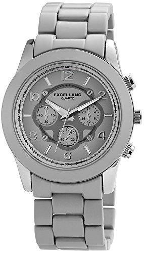 Excellanc Damen-Armbanduhr XL Analog Quarz Verschiedene Materialien 150821500010