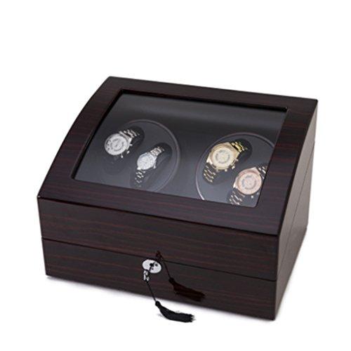 Uhrenbeweger Uhrenbox Uhrenkasten Uhrendreher Watch Winder Mini Sicherheitsschrank speziell für Schütteltisch, Klavier, Lack, fünf Modell Drehtisch Box entwickelt. (Color : 4+6D)