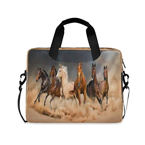 Laptop Bag Horse Laptop Case Sleeve Polyester Computer Carrying Case 13-15.6 inch