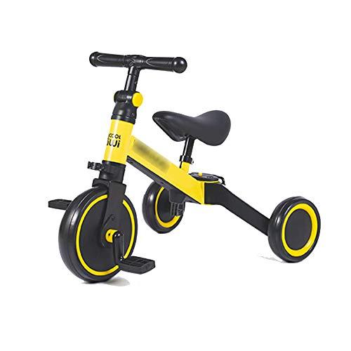 XHJZ-W 3 in 1 Kinder Trike für Kinder 1-3 Jahre alt Kinder Dreirad Jungen Mädchen Baby Gleichgewicht Bike 2 Räder für Kleinkinder Tricycle mit Removable Pedale,A