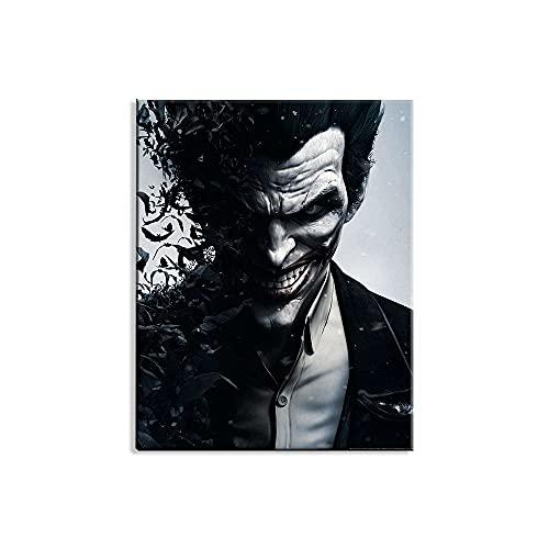 Visionpz 5D Diamond Painting Kit Batman: Arkham Origins The Joker DIY Cross Stitch Stickerei Malerei Kits Kristall Strass Stickerei Set Bilder Kunsthandwerk Geschenk 40x50cm,Ohne Rahmen