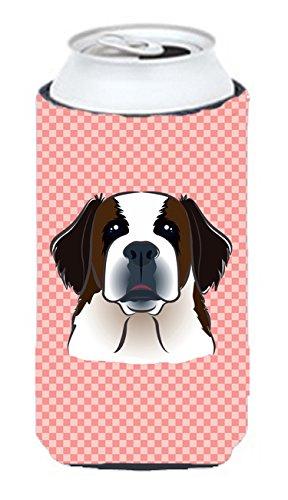 Checkerboard Rose Saint Bernard Tall Boy Koozie Hugger Bb1246tbc