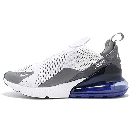Nike Air MAX 270, Zapatillas de Deporte para Hombre, Multicolor (White/White/Persian Violet/Dark Grey 107), 44 EU