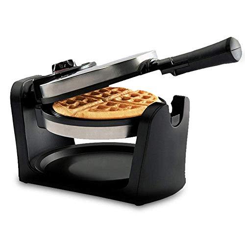 YFGQBCP 950W multifunción Wafflera, 180 ° de rotación Belgian Waffle Hierro con Antiadherente cocinar Platos, Mango Desmontable Bandeja de Goteo y el plegamiento, la Temperatura Ajustable de Control