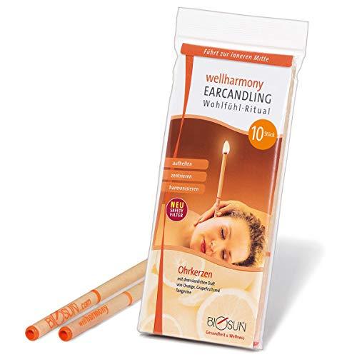 10 Stück (5 Paar) BIOSUN wellharmony Ohrkerzen / Ohrenkerzen Mit Sicherheits-Filter. Sinnlicher Duft Von Orange, Grapefruit Und Tangerine