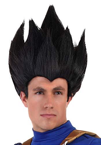 Adult Dragon Ball Z Vegeta Wig Anime Black Cosplay Wig for Men Standard