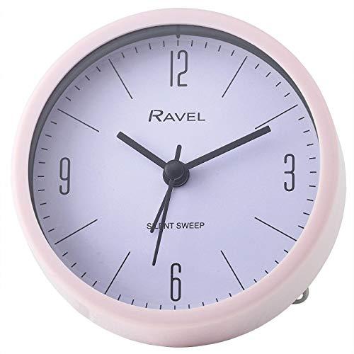 Ravel Silent Sweep Quartz Kunststof Ronde Wekker - Roze