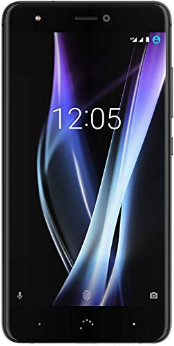 BQ Aquaris X Pro Smartphone black/midnight black (5,2 Zoll FHD, Qualcomm Snapdragon 626 Octa Core, 64 GB + 4 GB RAM, 12 MP-Kamera, NFC Fingerabdrucksensor, USB-C Quick Charge 3.0, Android 8.1.0 Oreo)