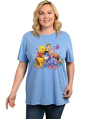 Disney Womens Winnie The Pooh Plus Size T-Shirt Eeyore Piglet Tigger (4X, Blue)