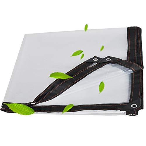 WAJIEFD Lona Transparente Impermeable, Plástico 0,12 mm Resistente Al Polvo Resistente A La Lluvia Resistente Al Viento Balcón Jardín,23 Tamaños (Color : Clear, Size : 5.0X10M)