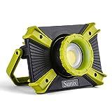 Sunix Foco Led Recargable 30W, Luz de Trabajo con asa Magnética, 1600LM SOS Modo 2.1A Base Magnética de Carga Rápida Focos Impermeables