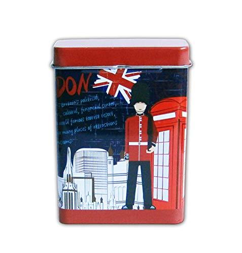 ZIGARETTENDOSE aus Blech Zigarettenbox Zigarettenetui Zigaretten Etui Box Case 04 (London)