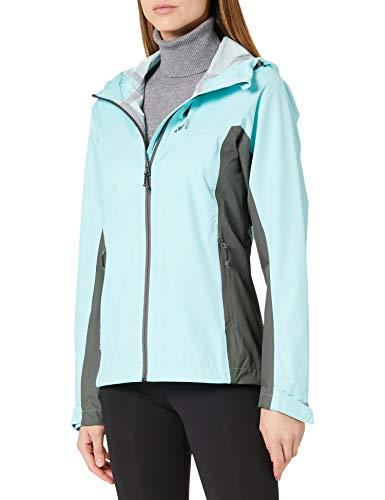 Millet - Fitz Roy III JKT W - Hardshell-Jacke für Damen - Wasserdichte und atmungsaktive Dryedge-Membran - Bergsteigen, Wandern, Trekking, Lifestyle - Mentholblau/Grau