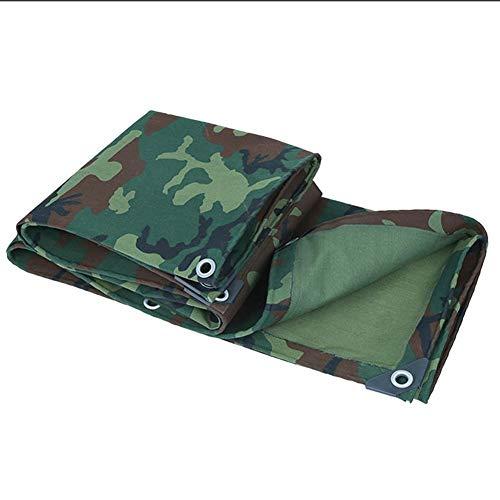 QIAOXI Espesar Shade Lona Lona Cubiertas de Tierra Hoja de Abrigo de la Tienda de Lona Impermeable for Trabajo Pesado Reforzado al Aire Libre Durable, Camo, múltiples tamaños, 600G / M