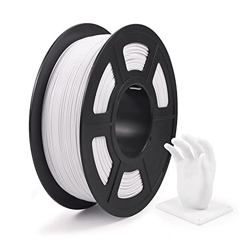 IEMAI 3D PLA Printer Filament, 1.75mm +/- 0.02mm Dimensional Accuracy 3D Printer Filament, 1KG Spool Filament for Most 3D Printers, White