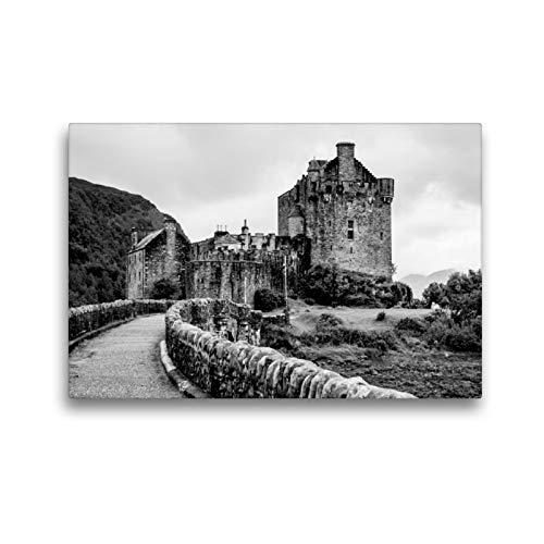 CALVENDO Premium Textil-Leinwand 45 x 30 cm Quer-Format Eilean Donan Castle, Leinwanddruck von Ralf Kaiser