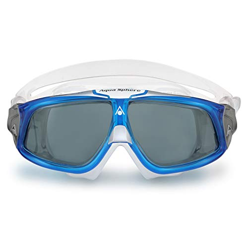 Aqua Sphere Seal 2.0 Schwimmbrille, blau weiß/getöntes Glas, Einheitsgröße