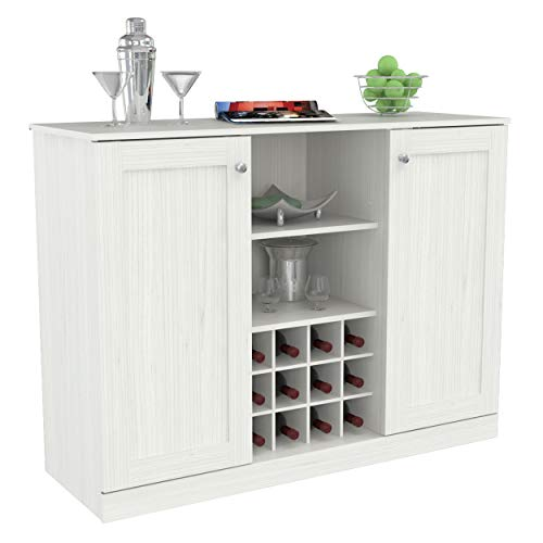 Inval Shaker Style Buffet Cabinet with 2-Doors, Washed Oak