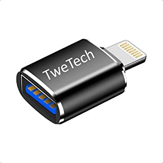 Sponsored Ad – TweTech USB A (Female) to Lightning 8Pin (Male) Adapter, Aluminum Alloy, OTG, Fast Sync Converter, Compatib...