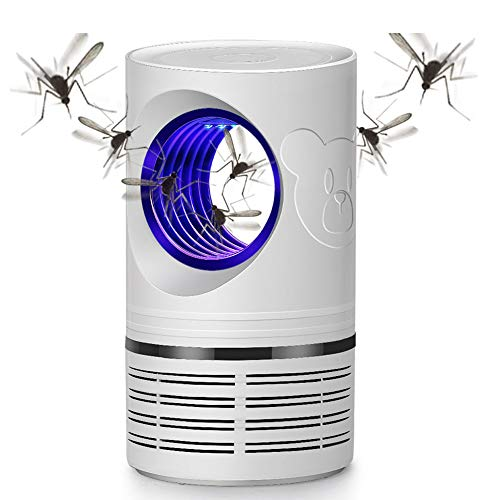 MOPOIN Moskito Killer Lampe, Insektenvernichter Mückenfalle Elektrisch Keine Strahlung LED Lichter Physisches Insektizid USB-Schnittstelle, 5W Weiß