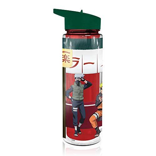 Naruto Shippudden Plastic Water Bottle [17oz], Hydro Tumbler Flask, Plastic Anime Jug (Officially Licensed)