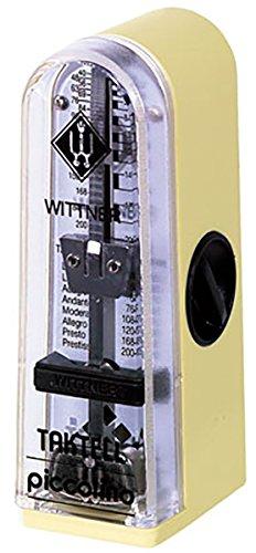 Wittner 903050 Taktell Piccolino Metronom Kunststoffgehäuse ohne Glocke elfenbein