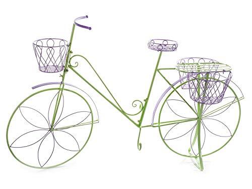 Bicicletta con portavasi e Fiori per Decorare casa Giardini e Negozi fioriere Decorative da vetrina complemento d'arredo per Bar e Negozi
