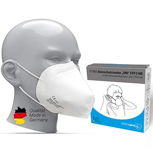 10x FFP3 Atemschutzmaske Zertifiziert Made IN Germany FFP3 Maske Staubschutzmaske Atemmaske Staubmaske 10 Stück verpackt in Aufbewahrungsbox und hygienischen PE-Beutel
