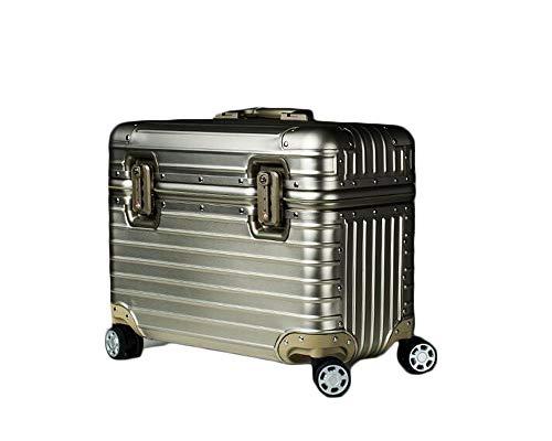 アルミ製スーツケース!全金属トランク アルミ合金ボディ 旅行用品 TSAロック搭載 機内持ち込み キャリーケース キャリーバッグ 小型 (17インチ)
