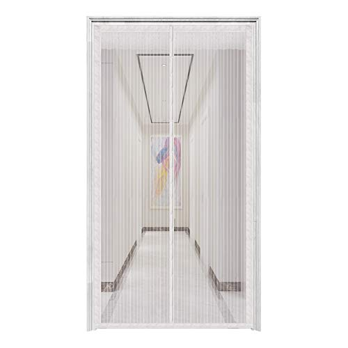 innotree Upgraded Magnetic Screen Door with 32 Magnets Heavy Duty Mesh Curtain, Fits Doors Up to 38'x82', Dogs Pets Friendly Door Screen, White