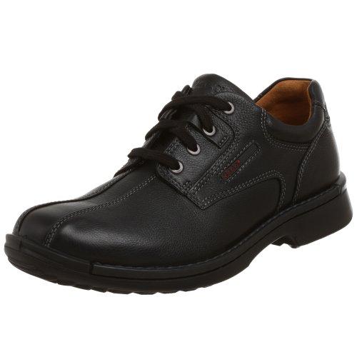 ECCO Fusion - Corbata para dedo del pie de bicicleta, piel negra 40 (EE. UU. para hombre 6-6.5)