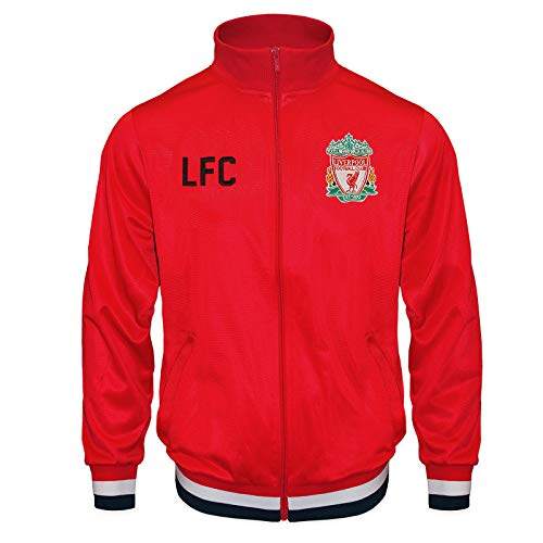FC Liverpool Jungs Retro-Trainingsjacke - Fußballgeschenk - 100% Polyester - Rot - 10-11 Jahre Large Boy