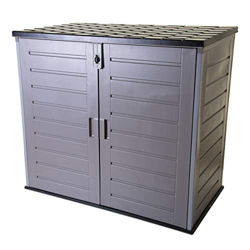 Marko Outdoor Garden Storage Shed Outdoor Plastic Weather Resistant Storage Utility Box XL