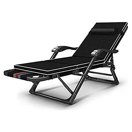 DYB Garden Chair Folding Sunlounger Outdoor Beach Garden Chair Reclining Sun Lounger Adjustable Lounge Chair Multifunction Office Foldable Nap Bed Portable Recliner (Color : #2)