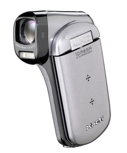 Sanyo VPC-CG21EX SD Camcorder High Definition (10 Megapixel, SD/SDHC Kartenslot, 35mm Weitwinkel, Full HD Video)