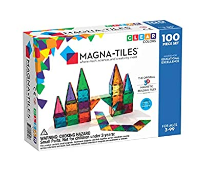 Magna-Tiles Clear Colors 100 Piece Set from School Specialty
