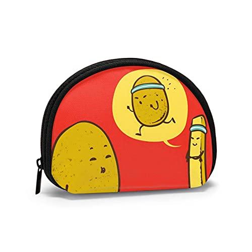 Papas fritas reducir el peso rojo impreso temático cambio monedero lindo Shell almacenamiento bolsa niña carteras Bule monederos clave bolsa Gifys mujer novedad