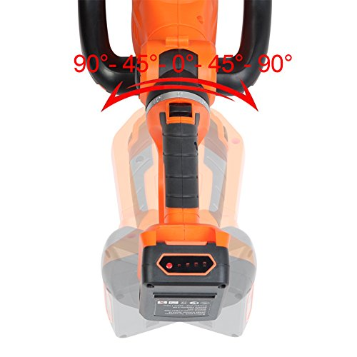 GARCARE 20V Cordless Hedge Trimmer/Tree Trimmer/Hedge Clippers with 1 Hour Quick Charger and 2.0Ah Li-Ion Battery, 24inch Laser Cut Blade, Rotary Cutting Head