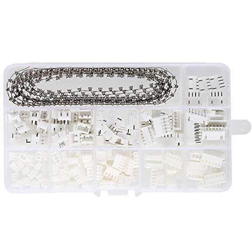 Buchse Pin Connector White Kit, 460 Stücke 2,54mm Pitch Weiblich Pin Header, JST Männlich und Weiblich Stecker, Crimp DIP Kit (2/3/4/5/6 Pin)