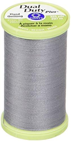 Coats: Thread & Zippers Manteaux Filetage et Fermetures à glissière Double Duty Plus Main Quilting Filetage, 297,2 m, Ardoise