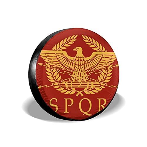Paedto Cubierta DE LA Rueda SPQR Roman Senado Emblema Romano Funda para Neumáticos Cubierta para Rueda de Repuesto Protección Bolsa de Almacenamiento