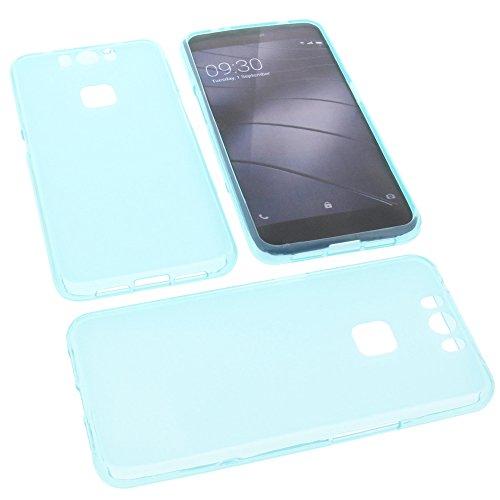 foto-kontor Tasche für Gigaset Me Pro Gummi TPU Schutz Handytasche blau