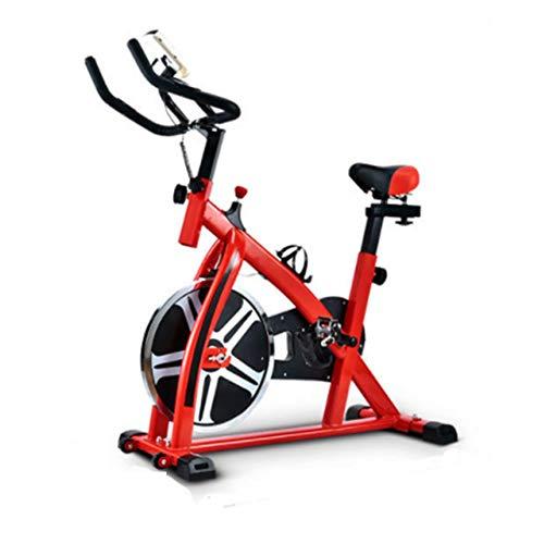 YIJIAHUI Bicicleta giratoria profesional para interiores con volante de 8 kg, asiento cómodo para interiores (color: rojo, tamaño: 110 x 44 x 110 cm)