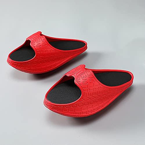 LRJKFS Pantofole da Massaggio bilanciate, Modellare e Allungare alleviano l'affaticamento Muscolare (Red,S)