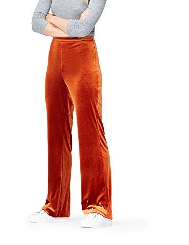 Amazon-Marke: find. Jogginghose Damen aus Velours mit Tunnelzug, Orange (Orange), 36, Label: S