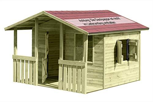 Großes Kinderspielhaus Lisa mit Veranda (Gartenpirat®)