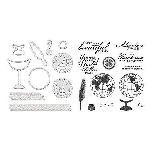 UEB Metall Schneiden Schablonen DIY Scrapbooking Fotoalbum mit klarem Siegel Stempelset Prägeschablone Karten Deko Stanzschablone Geschenk (01)
